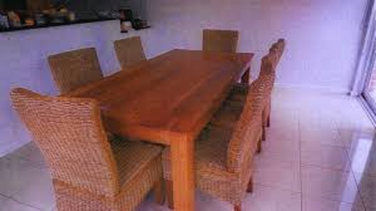 The table where the crime was supposed to be happened